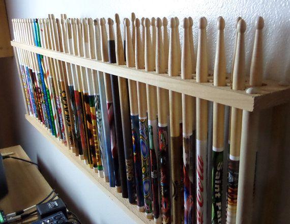 drum stick display drumstick holder hold 36 pair by goldnfiregems crafts drums diy. Black Bedroom Furniture Sets. Home Design Ideas