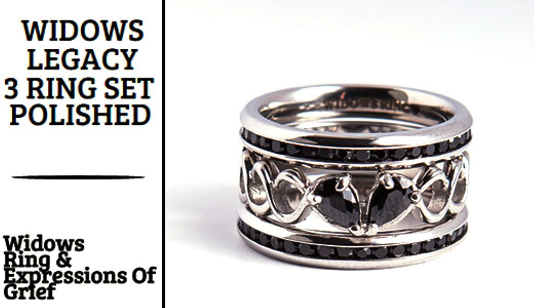 Widows Legacy 3 Ring Sets Silver engagement rings, Mens
