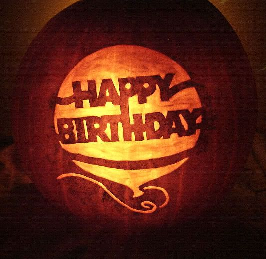 happy birthday pumpkin - Happy Halloween Birthday