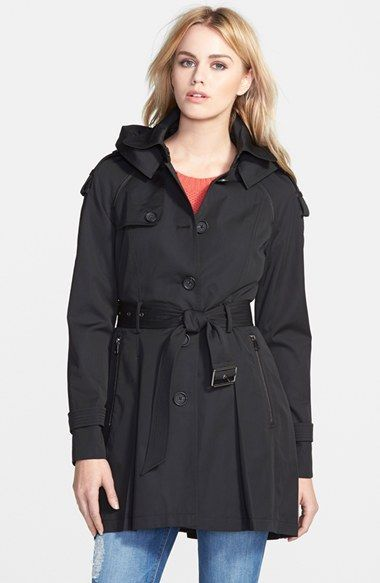 French Connection Single Breasted Skirted Trench Coat with Removable ...