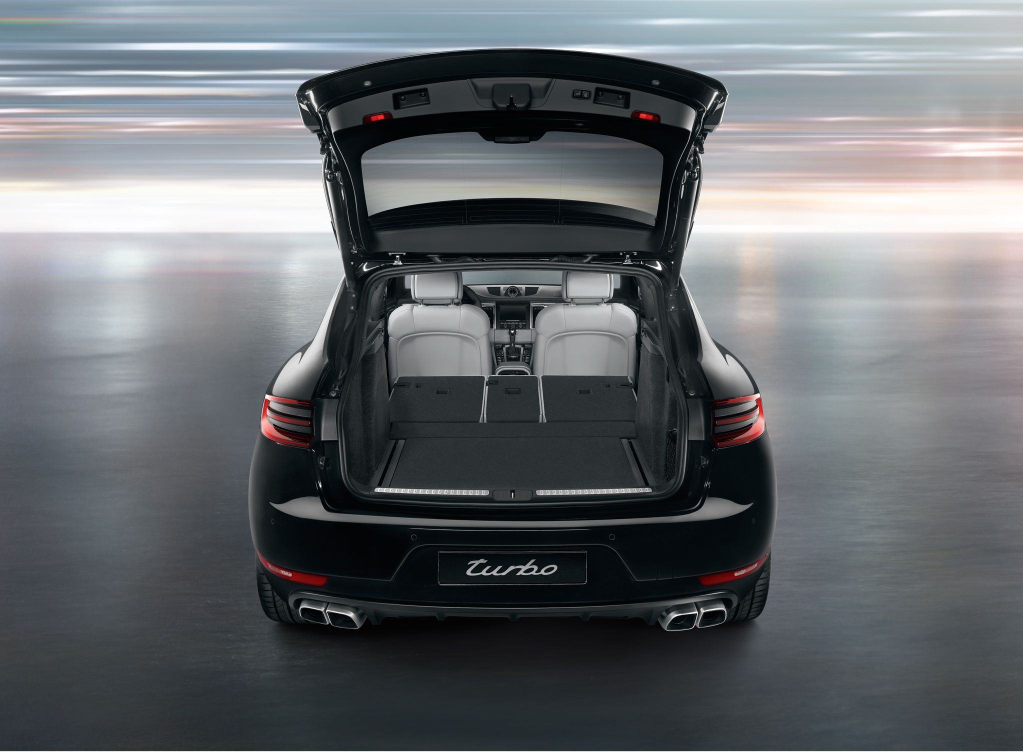 porschemacan folding the seat bench down fully offers up to 1 500