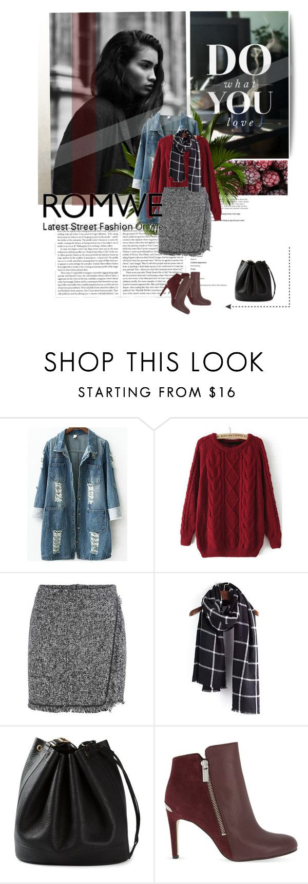 """wine red sweater"" by diyaazad ❤ liked on Polyvore featuring Hermès and MICHAEL Michael Kors"