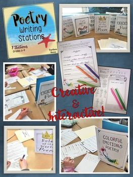 Poetry Writing Stations are a fun way to get your students interested in poetry!