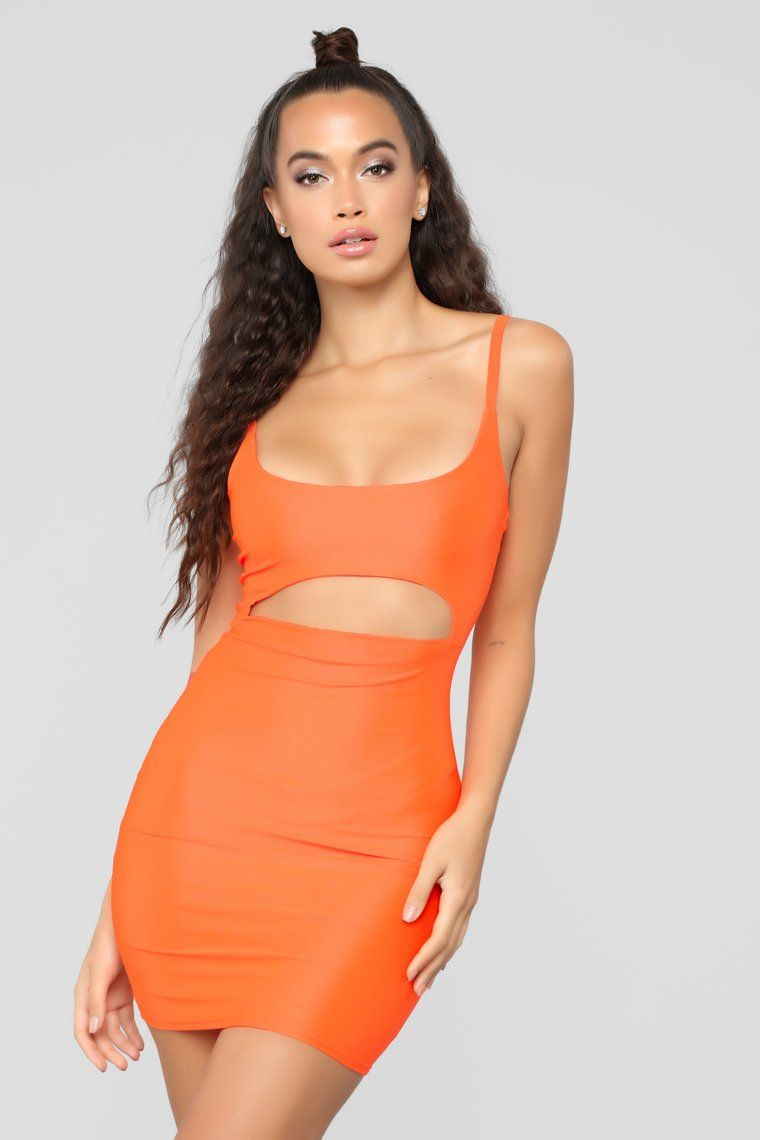 f541306a6a88 Cut To The Chase Mini Dress - Neon Orange in 2019 | Summer '19 ...