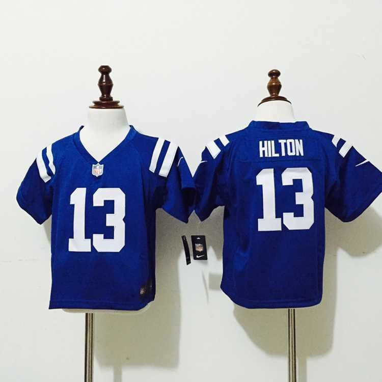 Nice Indianapolis Colts 13 Hilton Blue New Nike Baby Jerseys  supplier