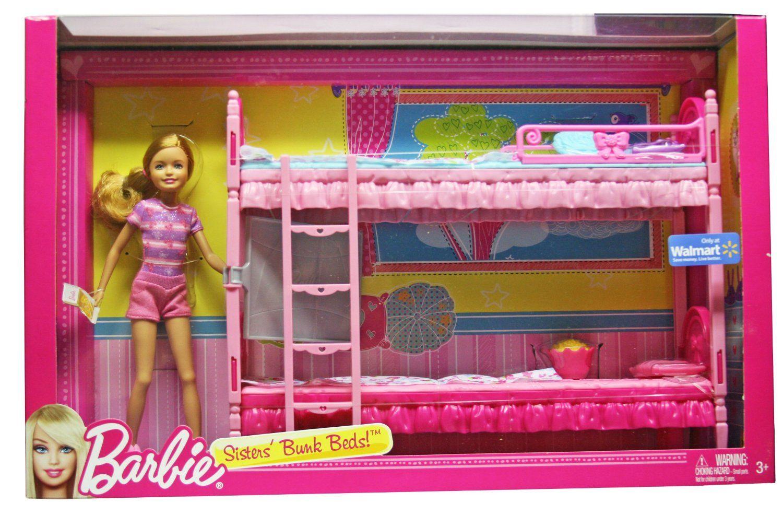 Amazon Com Barbie Sisters Bunk Beds Toys Games Barbie