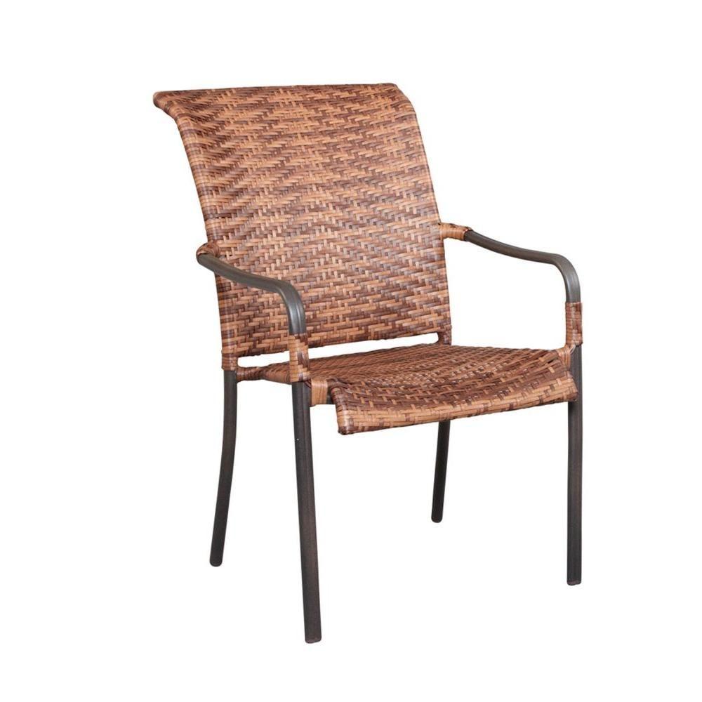 manila bay woven patio stack chair