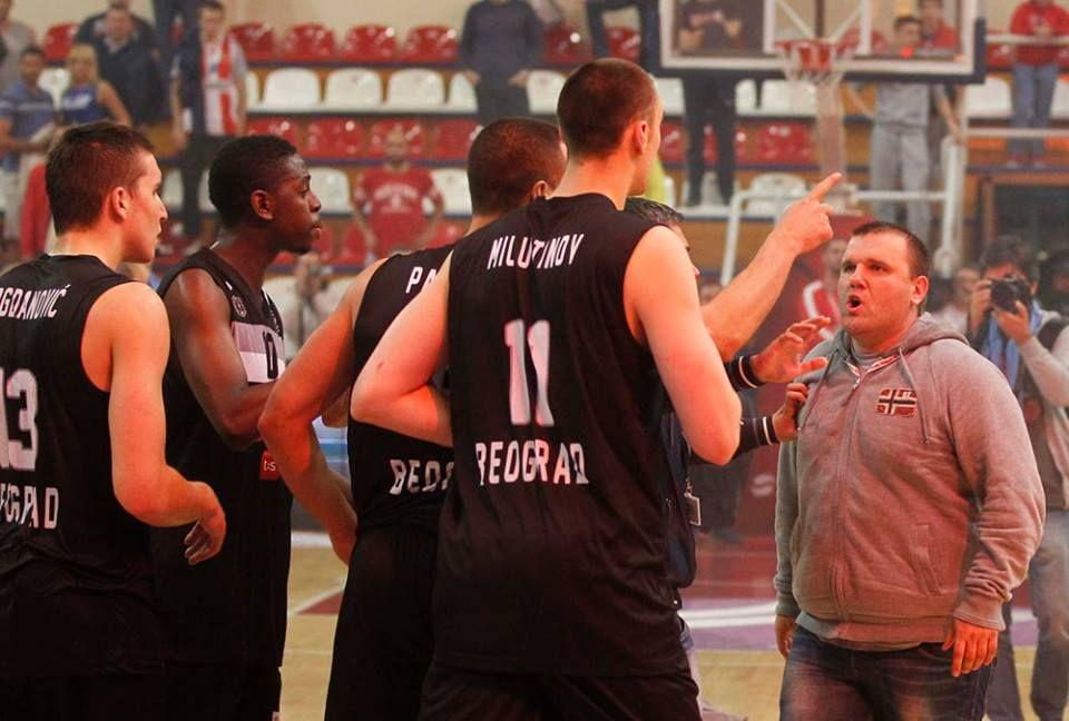 Pissed Red Fan Vs Partizan Players 01 Crvena Zvezda Kk