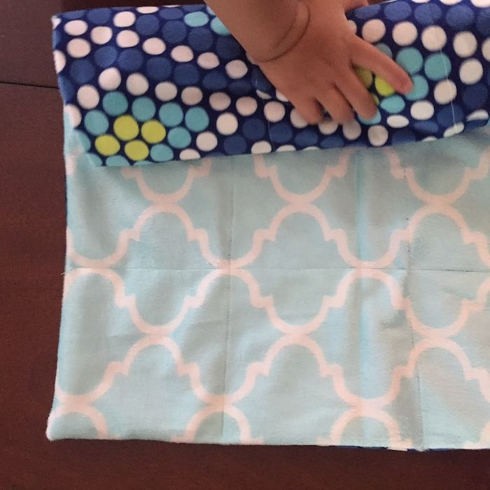 Diy Weighted Blanket Tutorial Finished Squares Full Of Weighted Beads Yay Photo C Kate Etue Weighted Blanket Diy Blanket Diy Weighted Blanket Tutorial