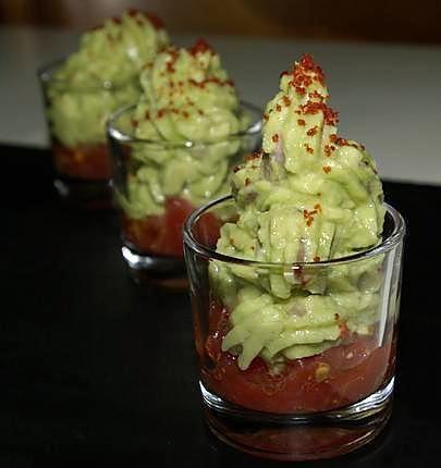 Verrine apéritif au guacamole ou ...comment accommoder les restes