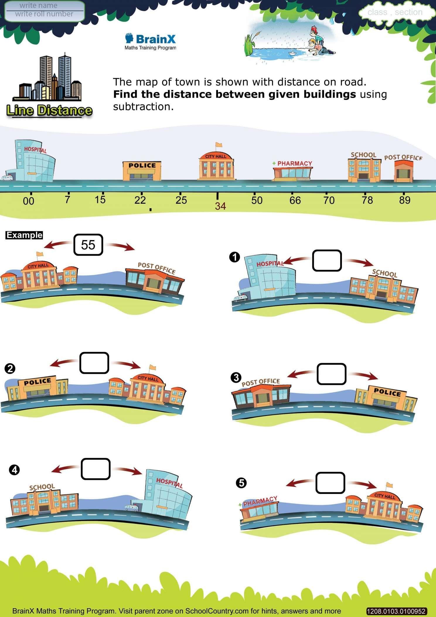 11 Distance Worksheet Kindergarten