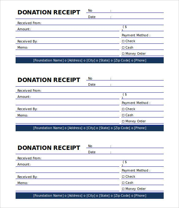 donation receipt template free