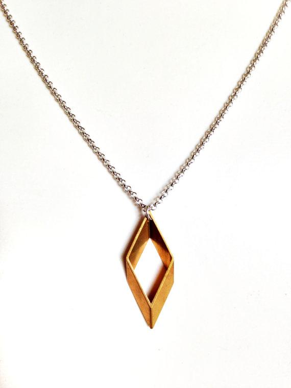 Geometric pendant necklace f men guys stainless steel jewelry mens necklace with geometric pendant aloadofball Image collections