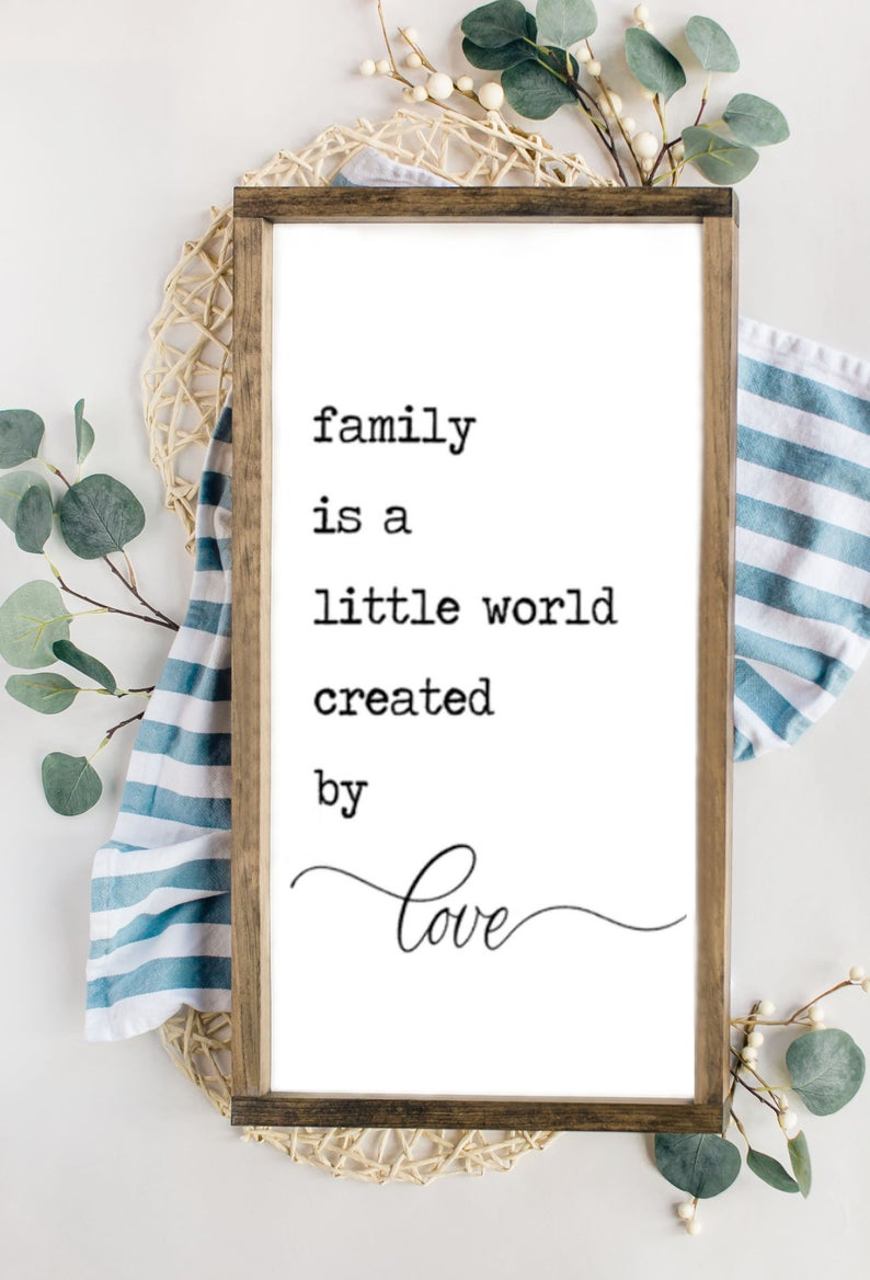 Family Is A Little World Created By Love Wooden Sign Family Etsy Love Wooden Sign Family Wood Signs Wooden Signs