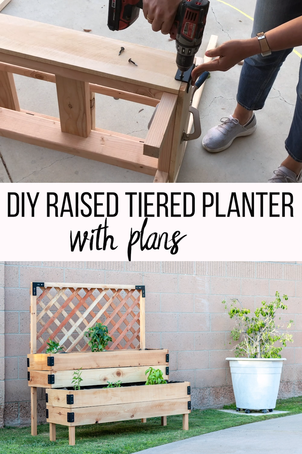 DIY Tiered Raised Garden Bed – VideoTutorial and Plans -   14 planting DIY backyards ideas
