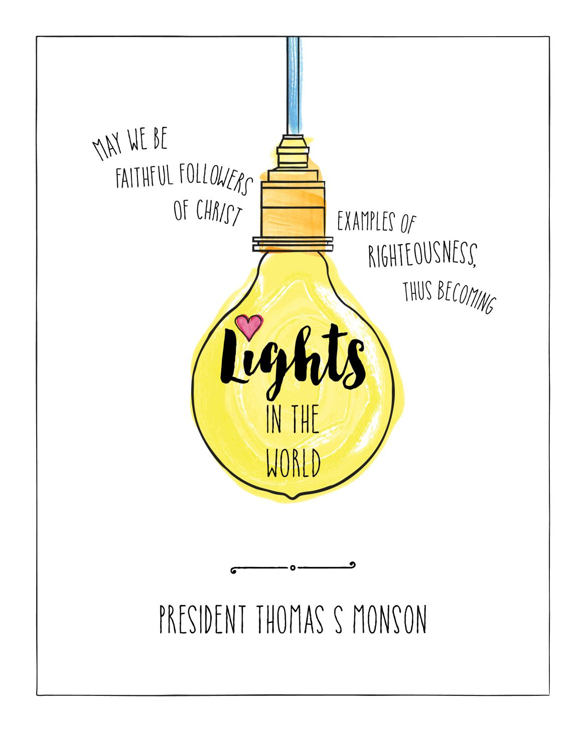 Light Quote Be The Light Quote Posters_Become Lights In The Worldt_8X1001