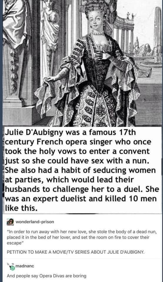 There needs to be a TV series about her. Would be awesome.