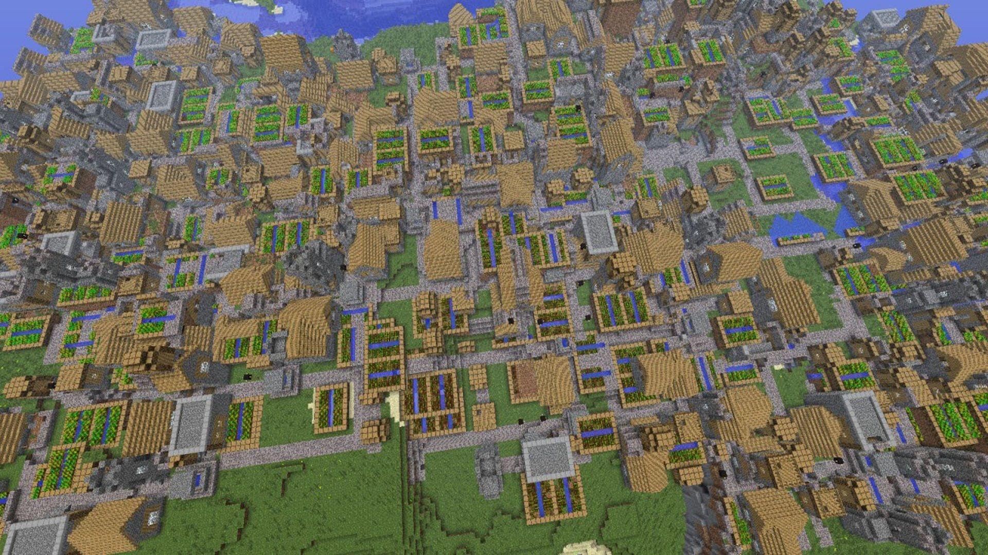 minecraft how to begin village