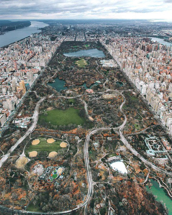 Central Park New York: Gorgeous Aerial Shot Of Central Park, NYC