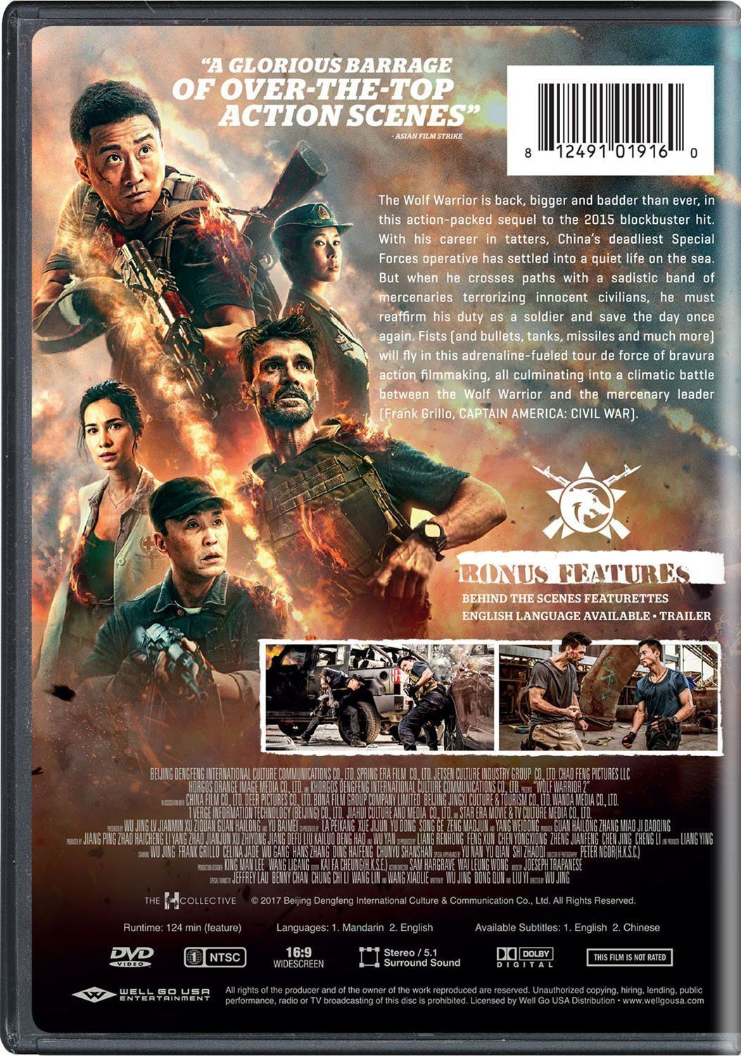 Wolf Warrior 2 2017 Dvd English Subtitled Us Version Wolf Warriors Usa Pictures Subtitled