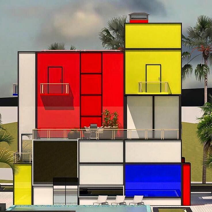 Mondrian Design Movement Mondrian House C Vasily Klyukin
