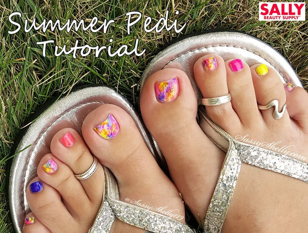 The Perfect Pedicure Easy Toe Nail Art With Sally Beauty Supply Sallybeautysupply