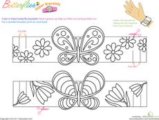 Butterfly bracelets - great for 'b' week