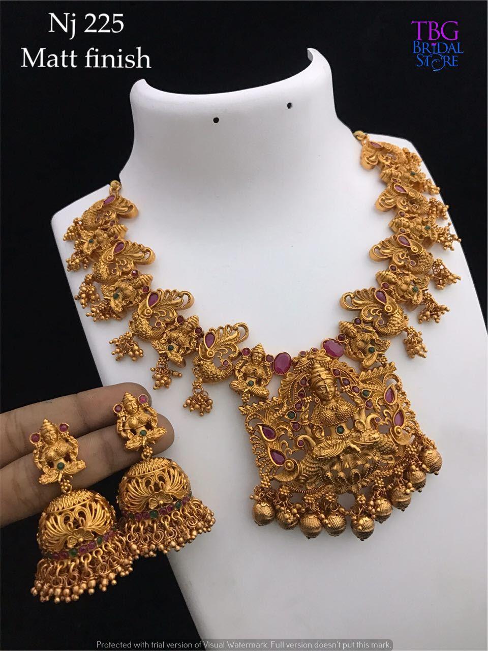 Matte Finish Choker Set Winter Bridal Jewelry Gold Jewelry Outfits Antique Bridal Jewelry