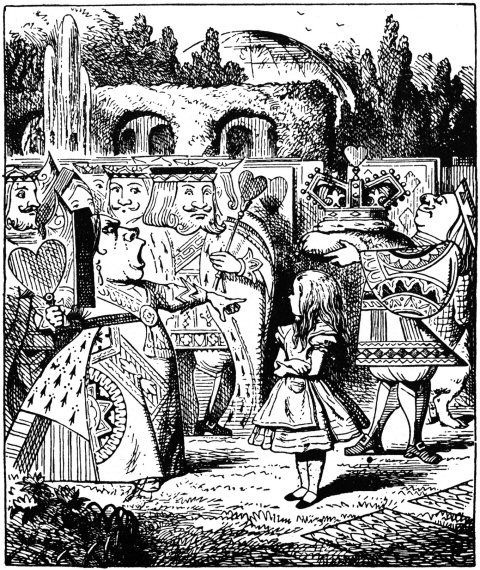 John Tenniel from chapter 8 - Alice's Adventures in Wonderland