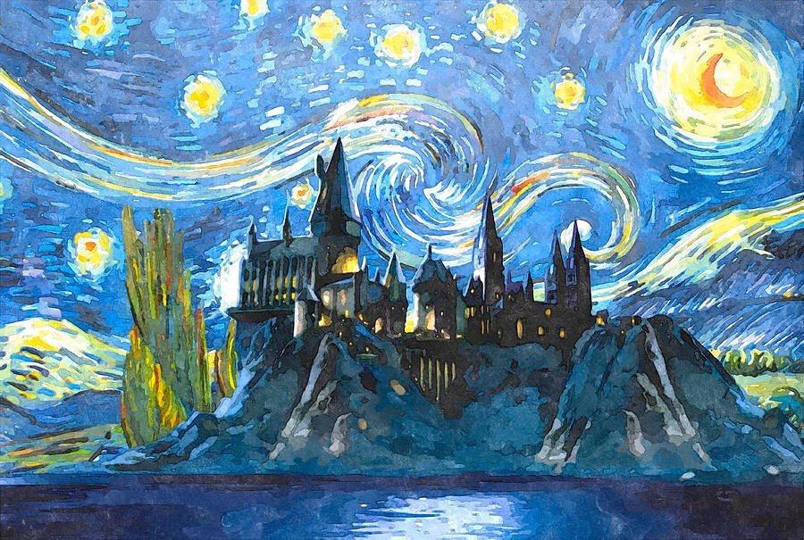 HARRY POTTER Hogwarts Canvas Framed Print Art ~ More Size