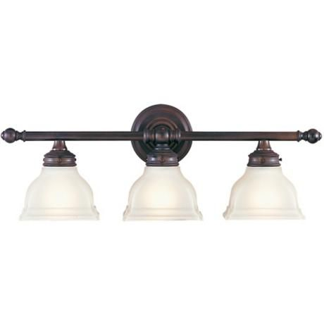 Photo of Feiss New London 25″ Wide Bronze 3-Light Bathroom Fixture – #80565 | Lamps Plus
