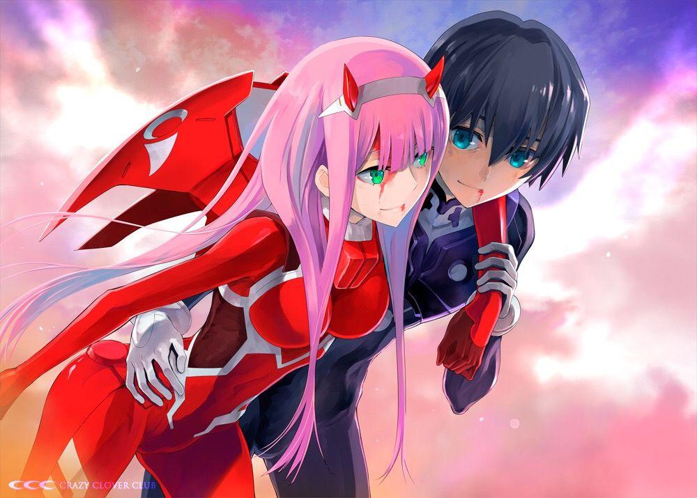 Zero Two and Hiro Fondo de anime
