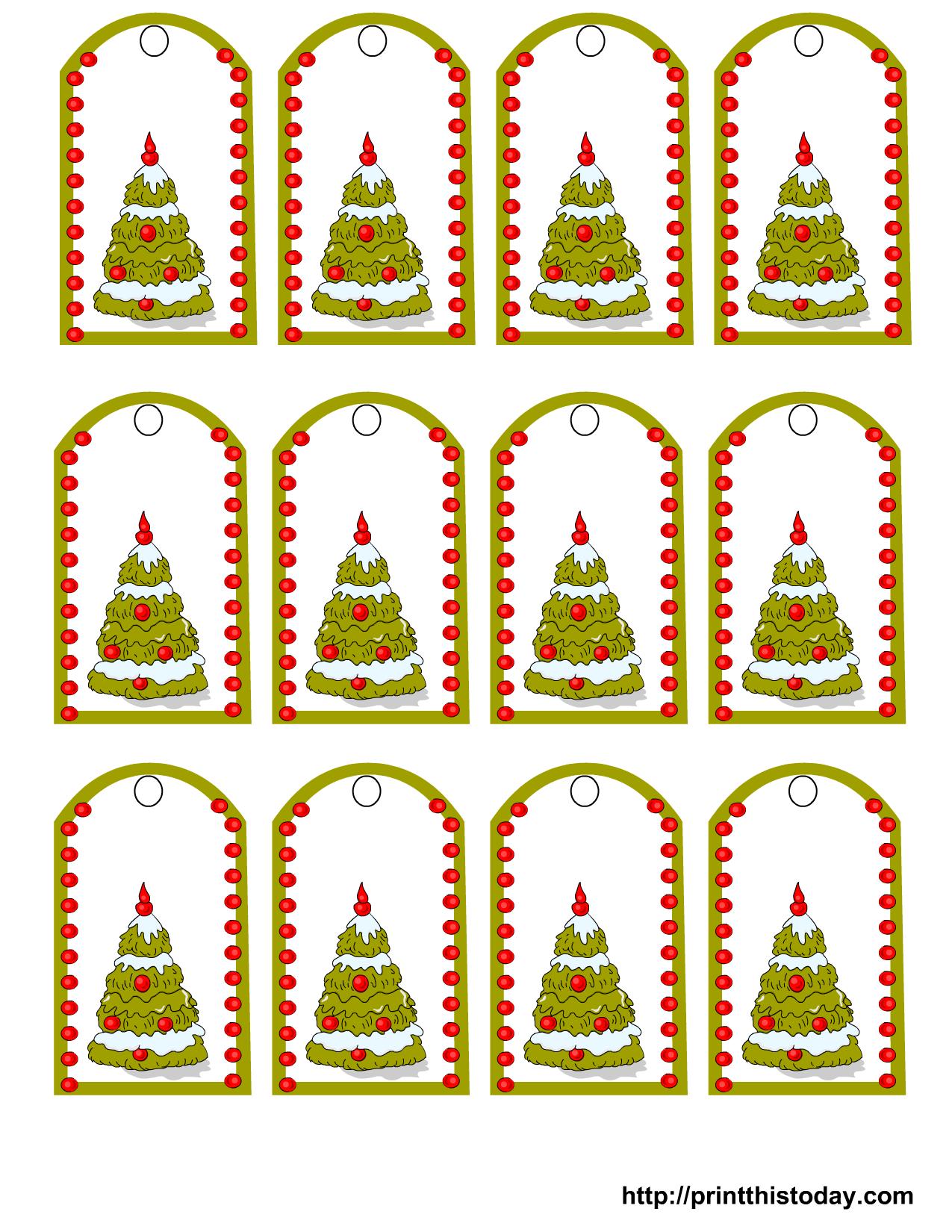 Открытки на подарок новогодние распечатать