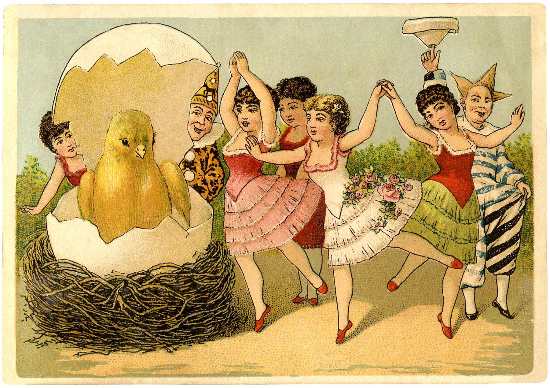 Quirky Vintage Easter Card – Vintage Easter Cards