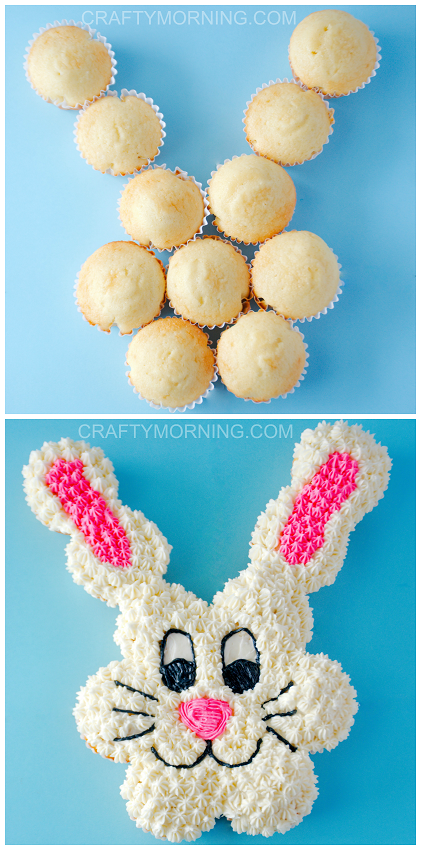 Pull Apart Easter Bunny Forget About Purchasing A Special Cake Pan Simply Fashion Your Cupcakes Into The Shape Of And Frost
