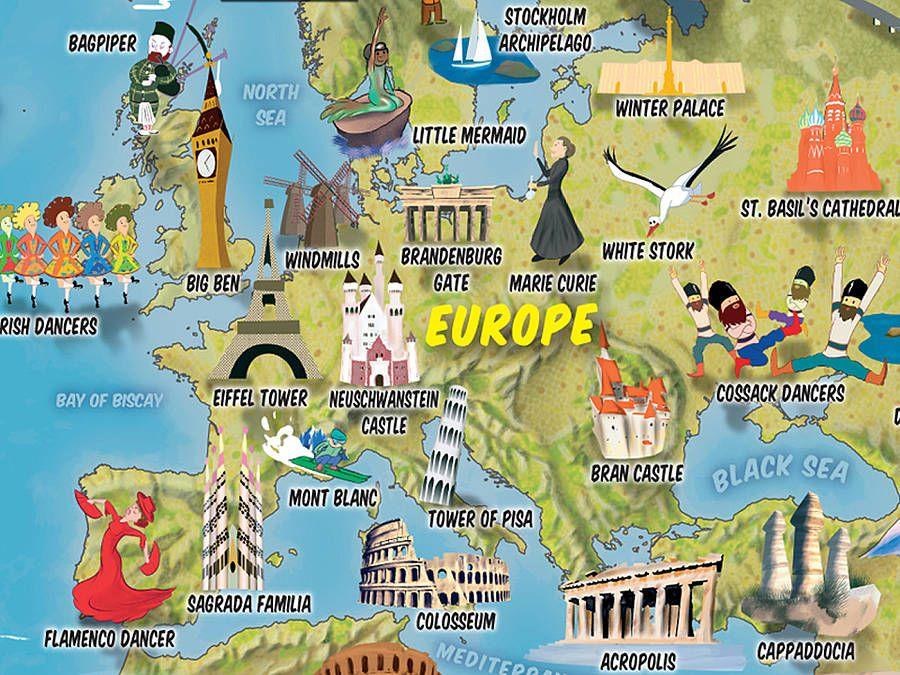 Kids cartoon map of the world gumiabroncs Choice Image