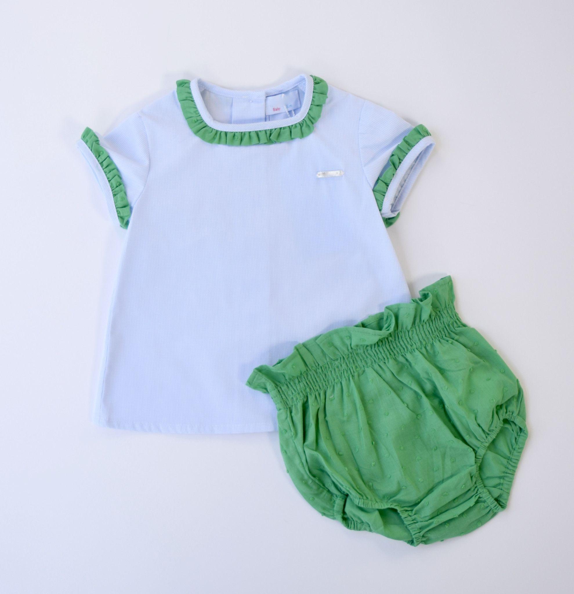 Blue & Green Baby Set