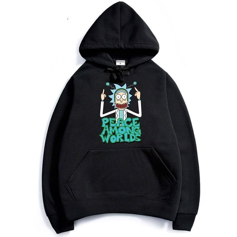 Rick And Morty Peace Among Worlds Anime Hoodie | Harajuku ...