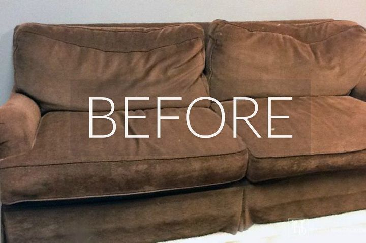 Ripped Brown Leather Couch