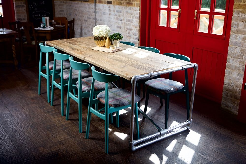 Large industrial dining table | Industrial dining table ...