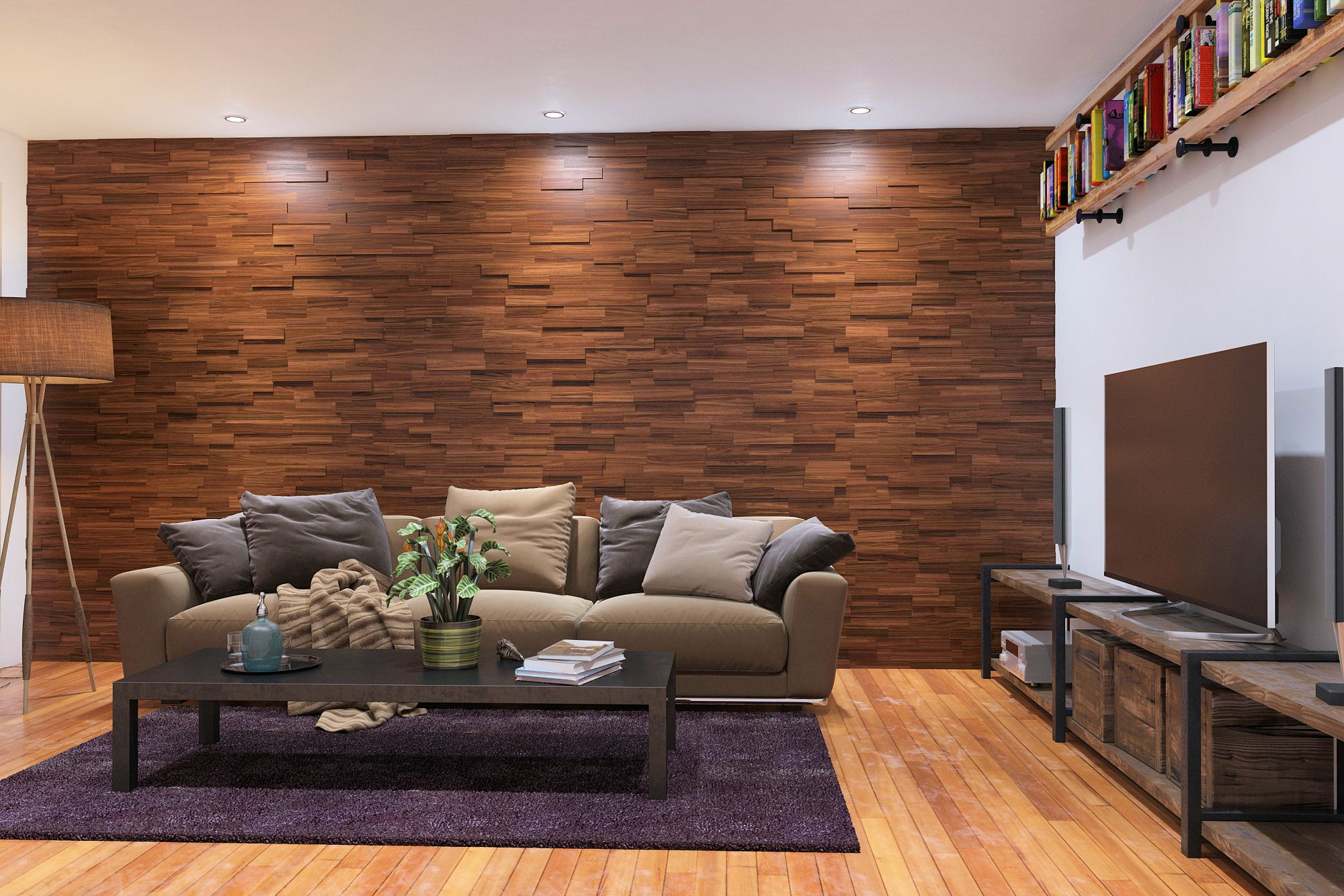 Mosaic Wood Wall Panels