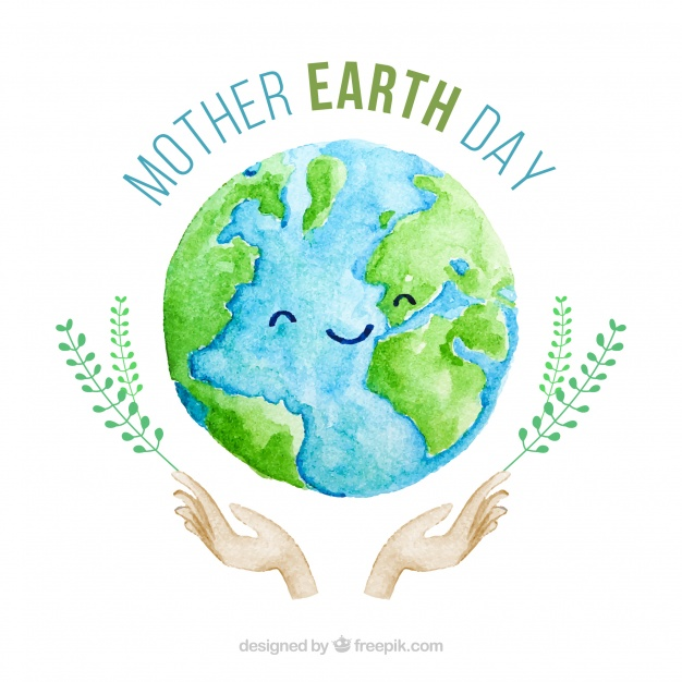 Download Cute Watercolour Background For The Mother Earth