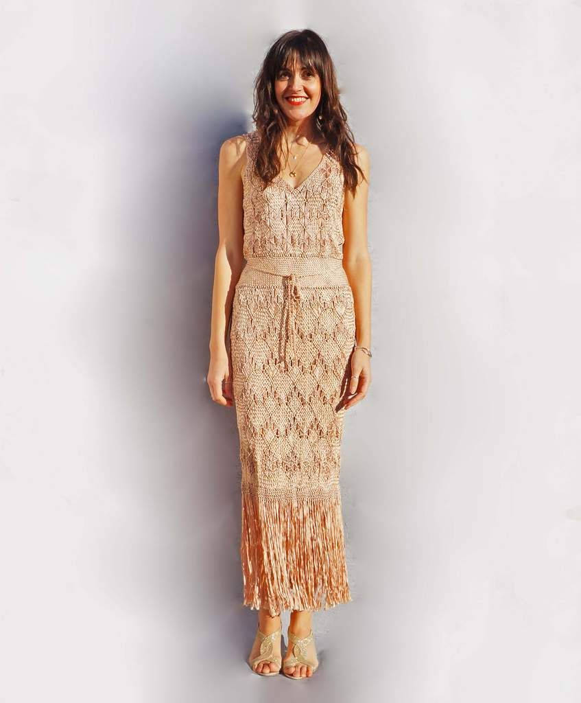 b19cab9ae8320 Vintage Macrame Wedding Dress. This beautiful Macrame vintage wedding dress  is so pretty and perfect