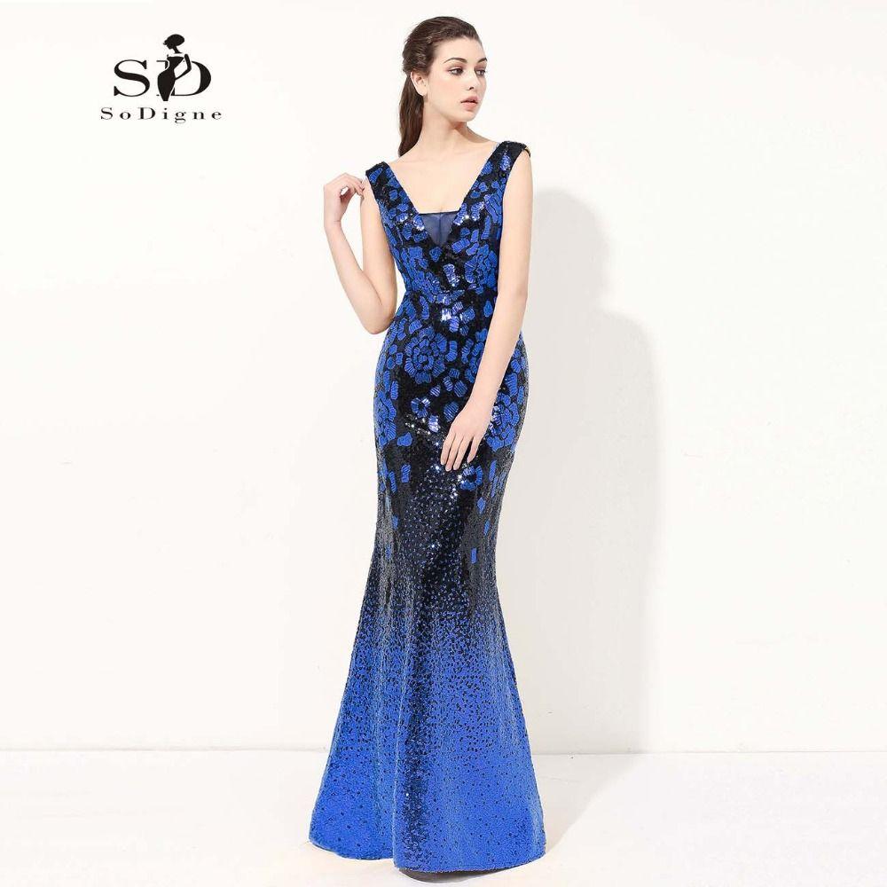 3fef00eb582 Prom Dress 2017 SoDigne Sequin New Arrival Vestido De Festa Luxury Lace Up Mermaid  Evening Dresses Sparkly Pageant Dresses