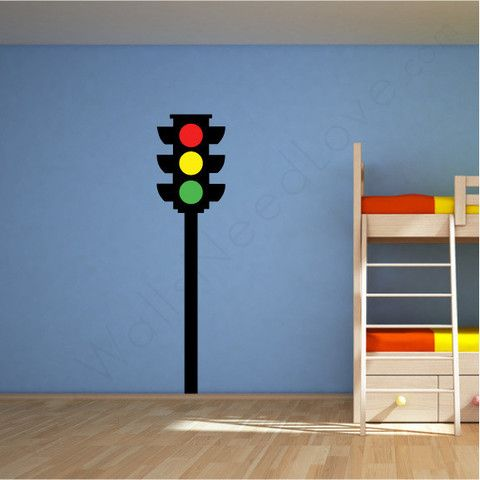 Nursery Wall Decal Traffic Light Church Decorating Pinterest - Traffic light for bedroom