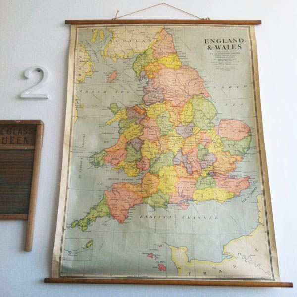 Vintage school map Wish I had one of these!   Remember this ...