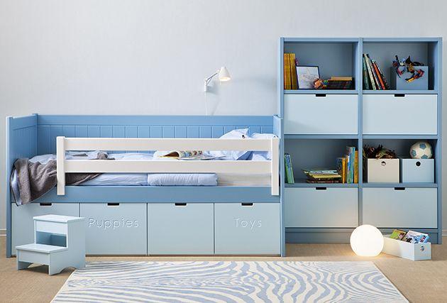 habitacin infantil modular con cama nido y estantera