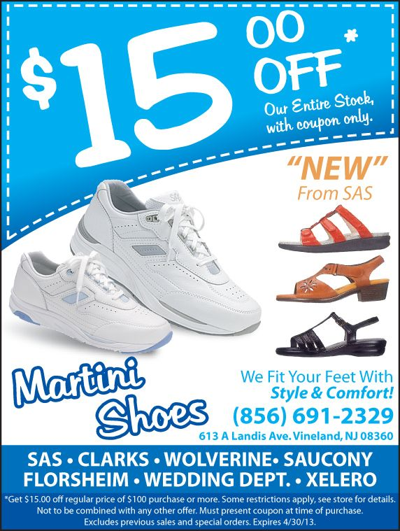 Martini Shoes Is A Local Shoe Store In Vineland They Were Know For Sticking To Their Moto We Fit Your Feet With Comfort Style Shoe Store Shoes Sneakers