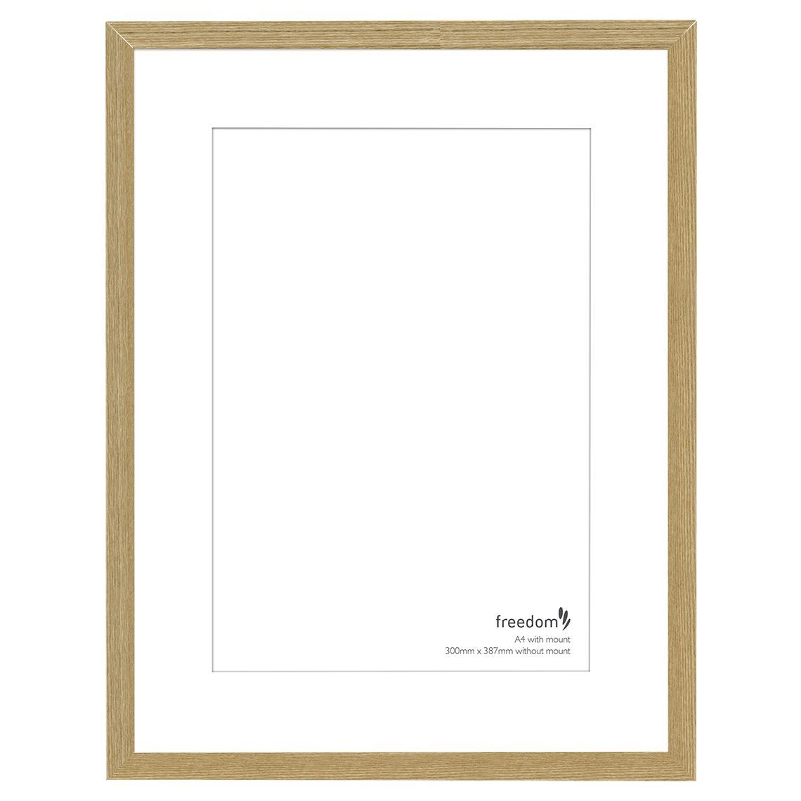 Freedom Arden A4 Matted Frame Size W 30cm X D 4cm X H 39cm In Oak