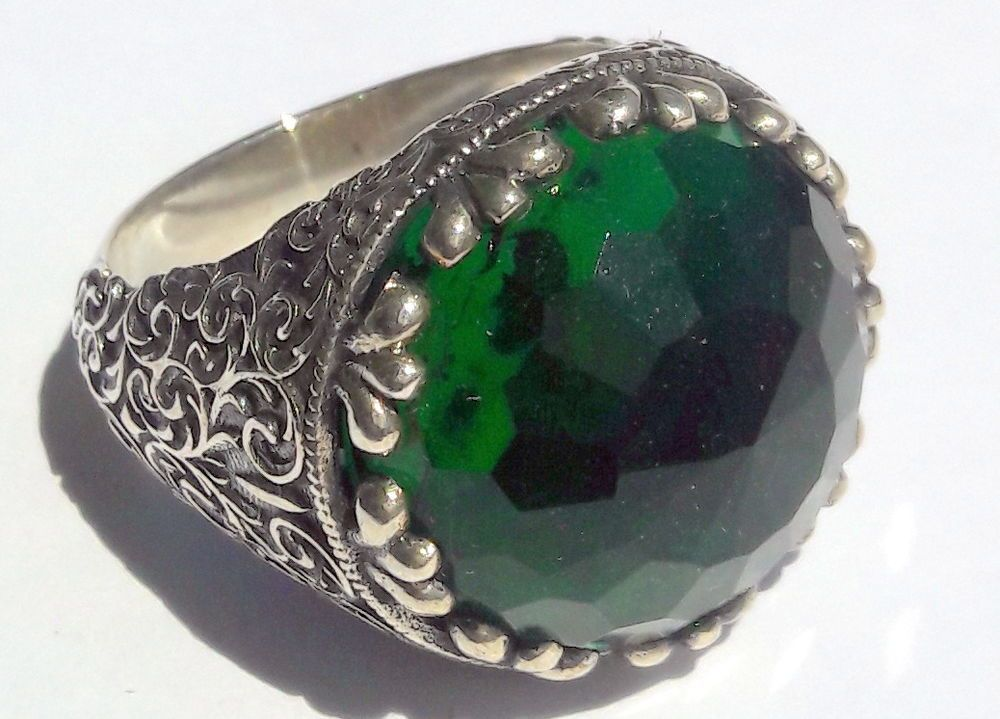 or gems rings from shipping men item ring for women in free fine jewelry sterling silver emerald natural real